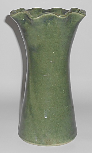Pacific Stoneware Art Pottery Matte Green 9in Vase