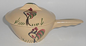 Watt Pottery Rooster #18 Rooster French Casserole W/lid