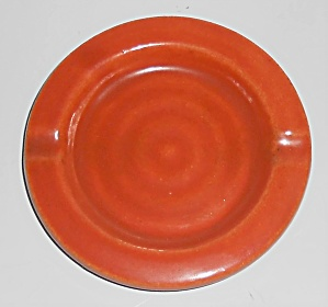 Bauer Pottery Ring Ware Orange 4'' Ashtray
