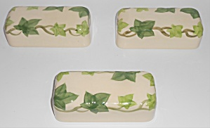 Franciscan Pottery Ivy Set/3 Butter Dish Lids