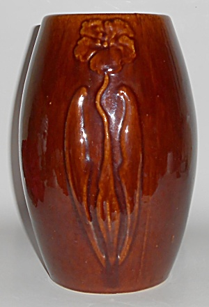 Zanesville Stoneware Pottery Gloss Brown #101 Vase