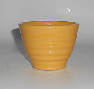 Bauer Pottery Ring Ware Early Yellow Custard Cup