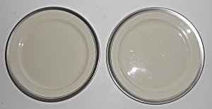 Pickard Porcelain China Geneva Platinum Salad Plate