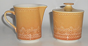 Syracuse China Calypso Creamer & Sugar Bowl Set