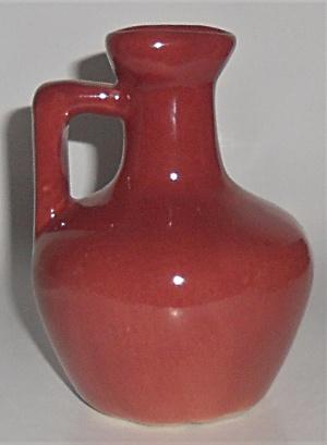 Zanesville Stoneware Pottery Company Small Maroon  LN J (Image1)