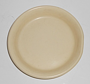 Bauer Pottery #4 Ivory/white Spanish Flower Pot Saucer