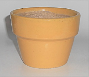 Garden City Pottery Yellow Flower Pot