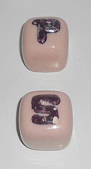 Early Winfield Gabriel China Pottery Purple / Pink Salt
