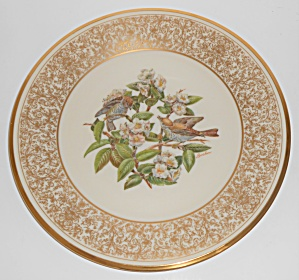Lenox China Boehm 1970 Wood Thrush Plate