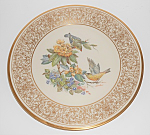 Lenox China Boehm 1971 Goldfinch Plate