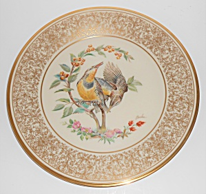 Lenox China Boehm 1973 Meadowlark Plate