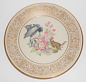 Lenox China Boehm 1980 Black-throated Blue Warbler Plat