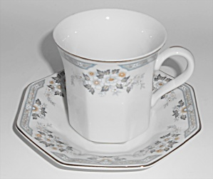 Mikasa Fine China Platinum Band Dana Cup & Saucer Set