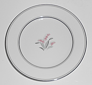 Noritake Porcelain China Crest W/platinum Bread Plate