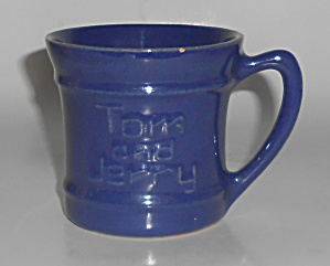 Pacific Pottery Hostess Ware Cobalt Tom & Jerry Mug