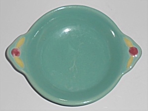 Coors Pottery Rosebud Green Fruit Bowl