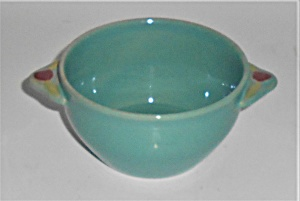 Coors Pottery Rosebud Green Cream Soup Bowl