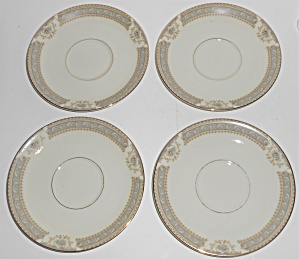 Mikasa Fine China M2002 Richelieu W/gold Set/4 Saucers