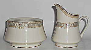 Mikasa Fine China M2002 Richelieu W/gold Creamer & Sug