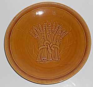 Franciscan Pottery Wheat Harvest Brown Bread Plate