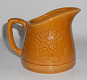 Franciscan Pottery Wheat Harvest Brown Creamer