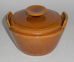Franciscan Pottery Wheat Harvest Brown Sugar Bowl & Lid