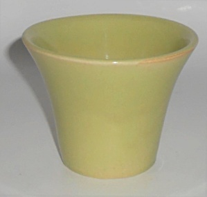 Bauer Pottery 3'' Chartreuse Spanish Flower Pot