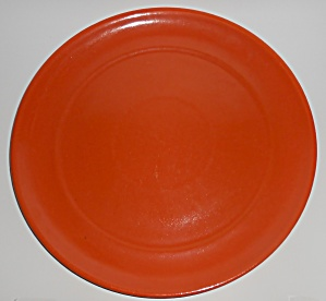 Garden City Pottery Plain Ware Orange 13'' Chop Plate