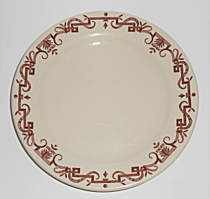 Shenango China Restaurant Ware Brown Scroll Salad Plate