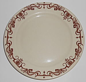 Shenango China Restaurant Ware Brown Scroll 9-1/4'' Pl