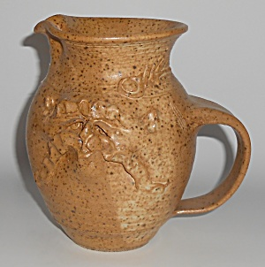 Studio Pottery Wheel Thrown Face Pitcher