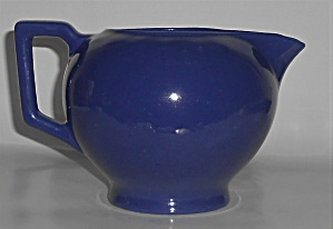 Red Wing Pottery Chevron Cobalt Pitcher