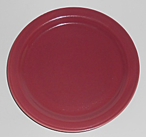 Coors Pottery Rock-mount Red Bread Plate