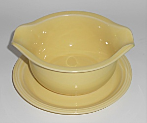 Coors Pottery Rock-mount Yellow Gravy Bowl