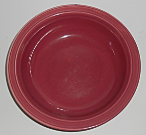 Coors Pottery Rock-mount Red Vegetable Bowl