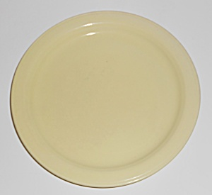 Coors Pottery Mello-tone Yellow Bread Plate