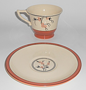 Franciscan Pottery Hawthorne Cup & Saucer Set