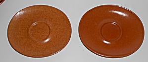 Roseville Pottery Raymor Terra Cotta Saucer (Image1)