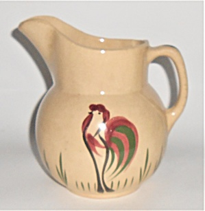 Watt Pottery Rooster #18 Rooster #16 Pitcher