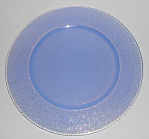 Yalos Casa Art Glass Murano Blue Opalescent Plate