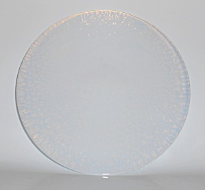 Yalos Casa Art Glass Murano White Opalescent 8-5/8'' Pl