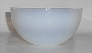 Yalos Casa Art Glass Murano White Opalescent Cereal Bow