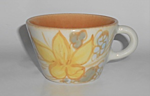Winfield China Pottery Fallow Floral Cup