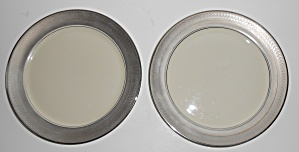 Pickard Porcelain China Pair Geneva Accent & St. Moritz