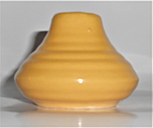 Bauer Pottery Ring Ware Yellow Low 5-hole Shaker