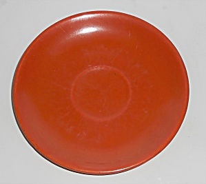 Catalina Island Pottery Toyon Red Saucer (Image1)