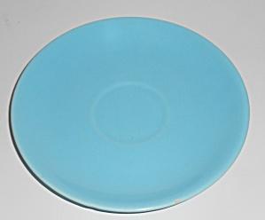 Catalina Island Pottery Turquoise Saucer #2 (Image1)