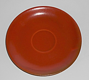 Catalina Island Pottery Toyon Red Saucer #4
