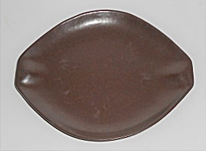Roseville Pottery Raymor Autumn Brown Saucer (Image1)