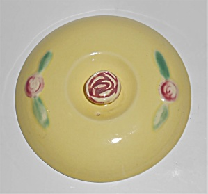 Coors Pottery Rosebud Yellow Bean Pot Lid